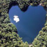 豊似湖 湖がハートの形 北海道の縁結びパワースポット
